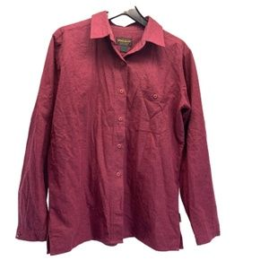 Woolrich Berry Button Down Top Medium